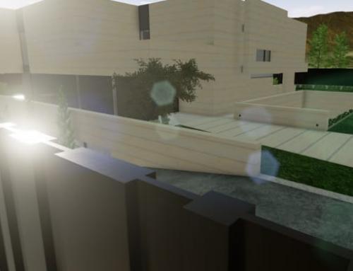 Modellieren und Einfügen eines Zauns in einem architektonischen BIM-Projekt