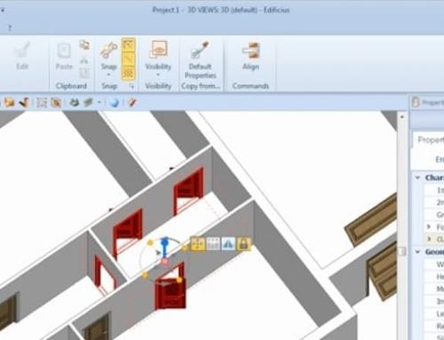Die Integration von Objekten in einem architektonischen BIM-Projekt: Tür, Fenster und Öffnung