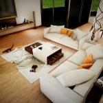 Casa San Roque Echtzeit-Rendering Detail Relaxzimmer