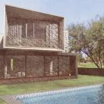Casa San Roque Echtzeit-Rendering mit Effekt Hinteransicht
