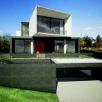 Casa San Roque Echtzeit-Rendering Detail Vorderansicht