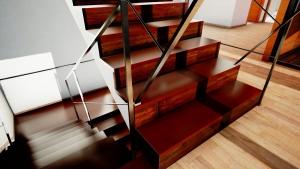 Casa San Roque Echtzeit-Rendering Detail Treppe