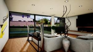 Casa San Roque Echtzeit-Rendering Detail Living