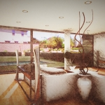Casa San Roque Echtzeit-Rendering mit Effekt Detail Living