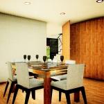 Casa San Roque Echtzeit-Rendering Detail Esszimmer
