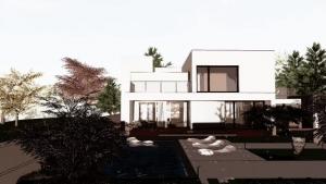 C-House Ansicht Terrasse und Pool_Edificius_BIM