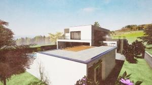 C-House Außenansicht Nebengebäude_Edificius_BIM