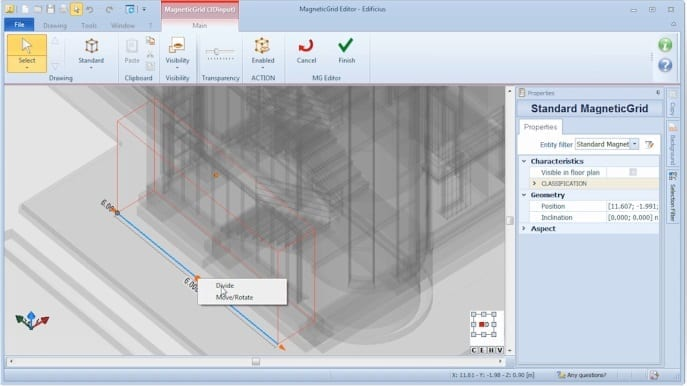 Editing MagneticGrid - BIM-Software