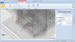 Menü Editing MagneticGrid – BIM-Software Edificius
