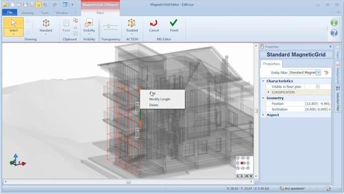 Neue Objekte MagneticGrid hinzufügen - BIM-Software Edificius