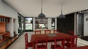 Rendering Casa Kaprys -Living - Edificius