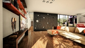 RenderingCasa Kaprys -Living-Ansicht - Edificius