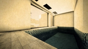 Render Camarines BIM-Software Edificius - Pool mit künstlerischem Effekt