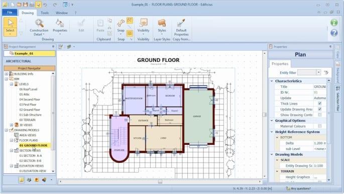 Erstellen vom Projekt-Grundriss mit Edificius