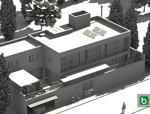 Erstellen eines Einfamilienhauses mit einer BIM-Software SJ House