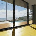Detail der Fußboden-Texturen und Außenansicht
