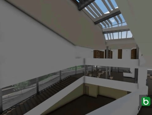 Treppen und Brüstungen mit einer BIM-Software Daegu Gosan Public Library