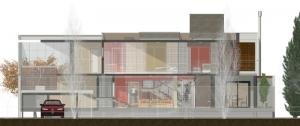 3D-Schnittzeichnung mit Transparenz Casa SJ
