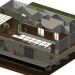 Ansicht von oben mit 3D-Schnittzeichnung Casa SJ