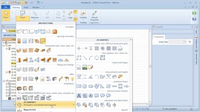 Auswahl von 2D-Grafikobjekten