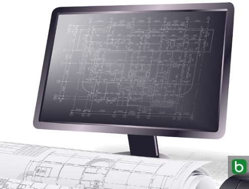 Architektonische Objekte und 2D-Grafikobjekte in einer BIM-Software Edificius