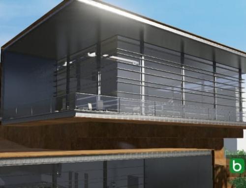 Mit einer BIM-Software für den architektonischen Entwurf eine Glasfassade zeichnen