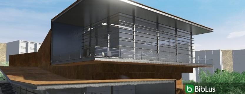BIM-Software für den architektonischen Entwurf eine Glasfassade zeichnen