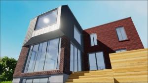 Auskragender Block von Dulwich Residence