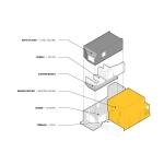 Dreidimensionale Snittzeichnung Dulwich Residence