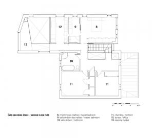 Grundriss zweiter Stock Dulwich Residence