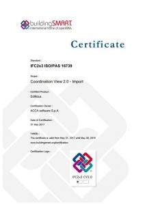 IFC-Zertifikat von Edificius für den Import