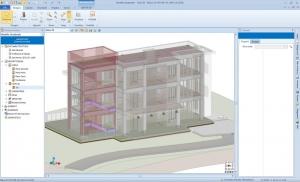 EdiLus Realisierung-des-Strukturmodells-mit-integriertem-architektonischem-Modell