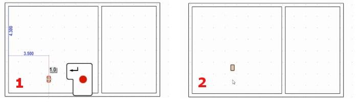 Beenden der Abstandeinstellungen und automatische Erstellung der Stützen_Edificius