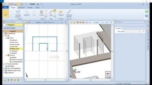 Einfügung der Glasfassade der Treppe Nahil Kan mit BIM-Software Edificius