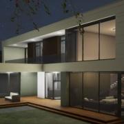 Architektonischer Entwurf einer Villa mit einer BIM-Software Edificius