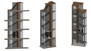 Komposition der Treppe BIM-Software Edificius