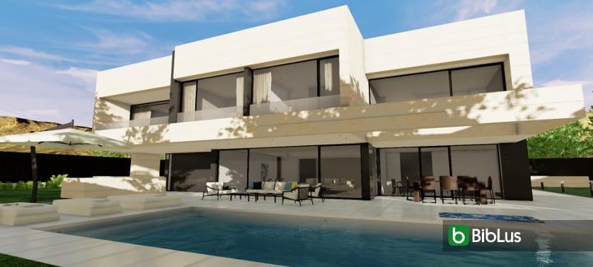 Villa und Garten mit einer BIM-Software entwerfen Edificius