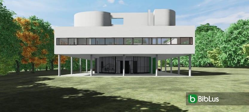 Villa Savoye mit einer BIM-Software entwerfen