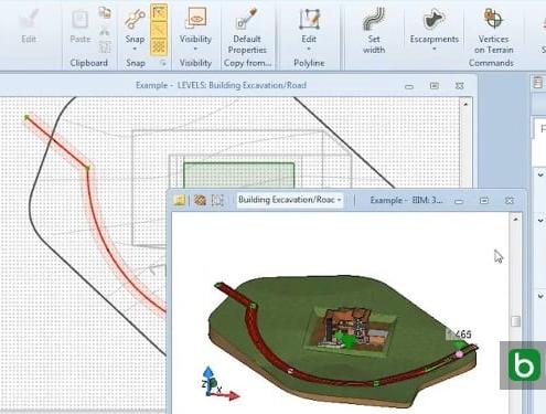 Eine Straße mit einer BIM-Software modellieren Edificius