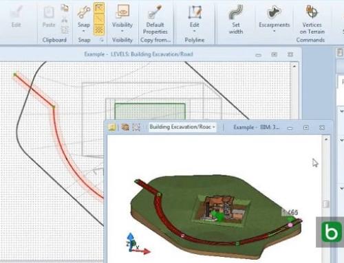 Eine Straße mit einer BIM-Software modellieren