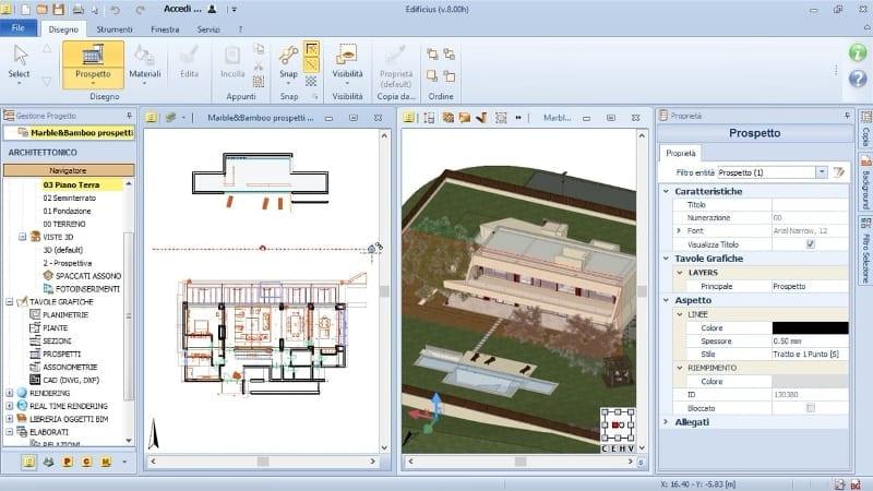 Erstellung der Ansicht-MarbleBamboo-Edificius-BIM software