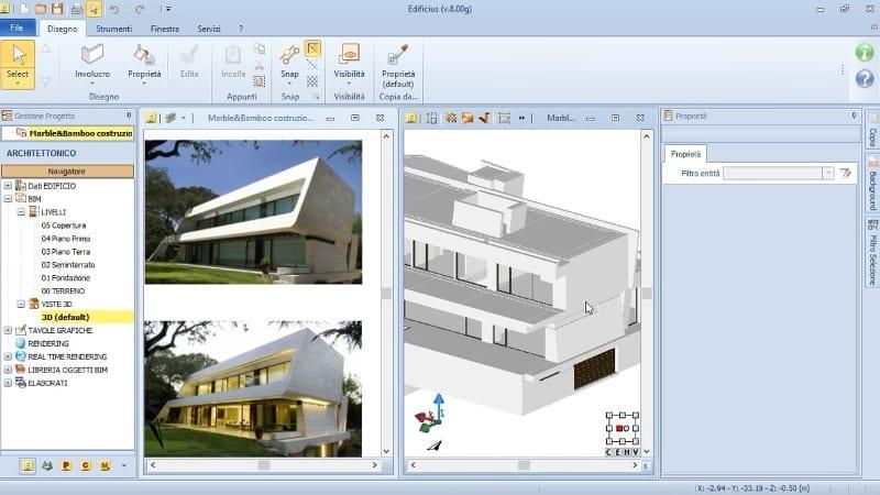 Extrusion-Werkzeug-MarbleBamboo-Edificius-BIM software