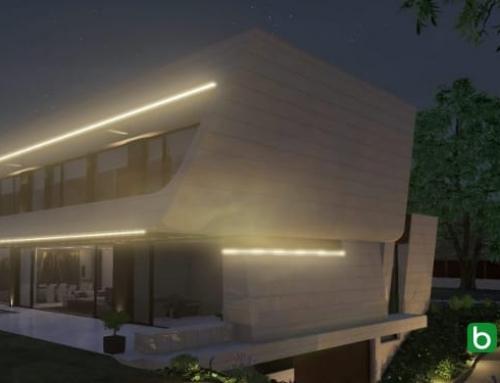 Eine geneigte Fassade mit einer BIM-Software erstellen: Marble&Bamboo