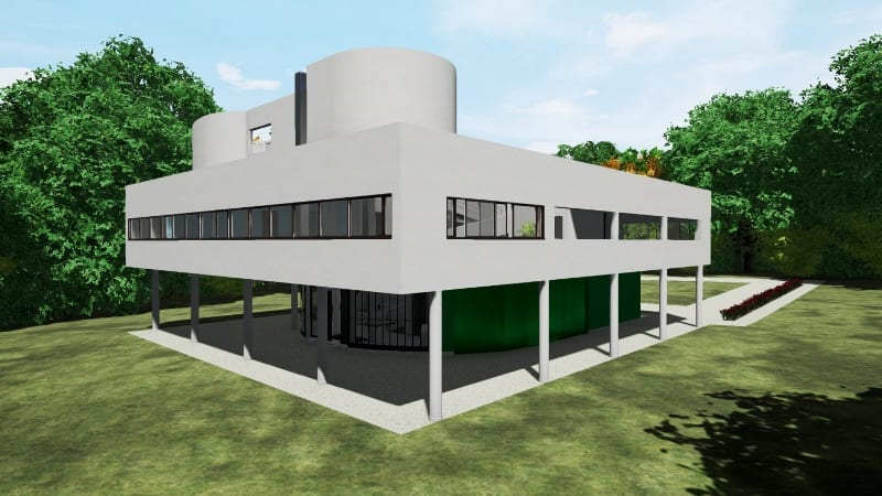 Freie Fassade-Villa-Savoye-Edificius-BIM-software