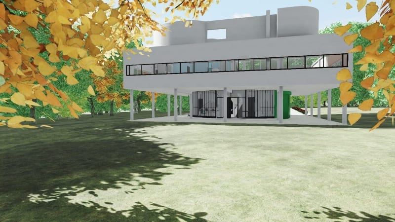Langfenster-Villa-Savoye-Edificius-BIM-software