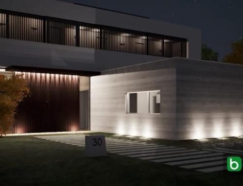 Entwerfen und Anordnen der Lichtpunkte in einer Villa