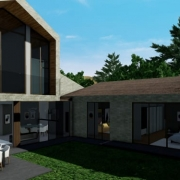 Einfamilienhaus mit einer BIM-Software entwirft Edificius