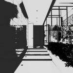 Eingang mit grafischem Effekt - Render - Architectural BIM software - Edificius