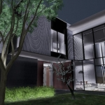 Glasfassade Living-Bereich - Render - Architectural BIM software - Edificius