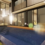Pool und Living-Ansicht - Render - Architectural BIM software - Edificius